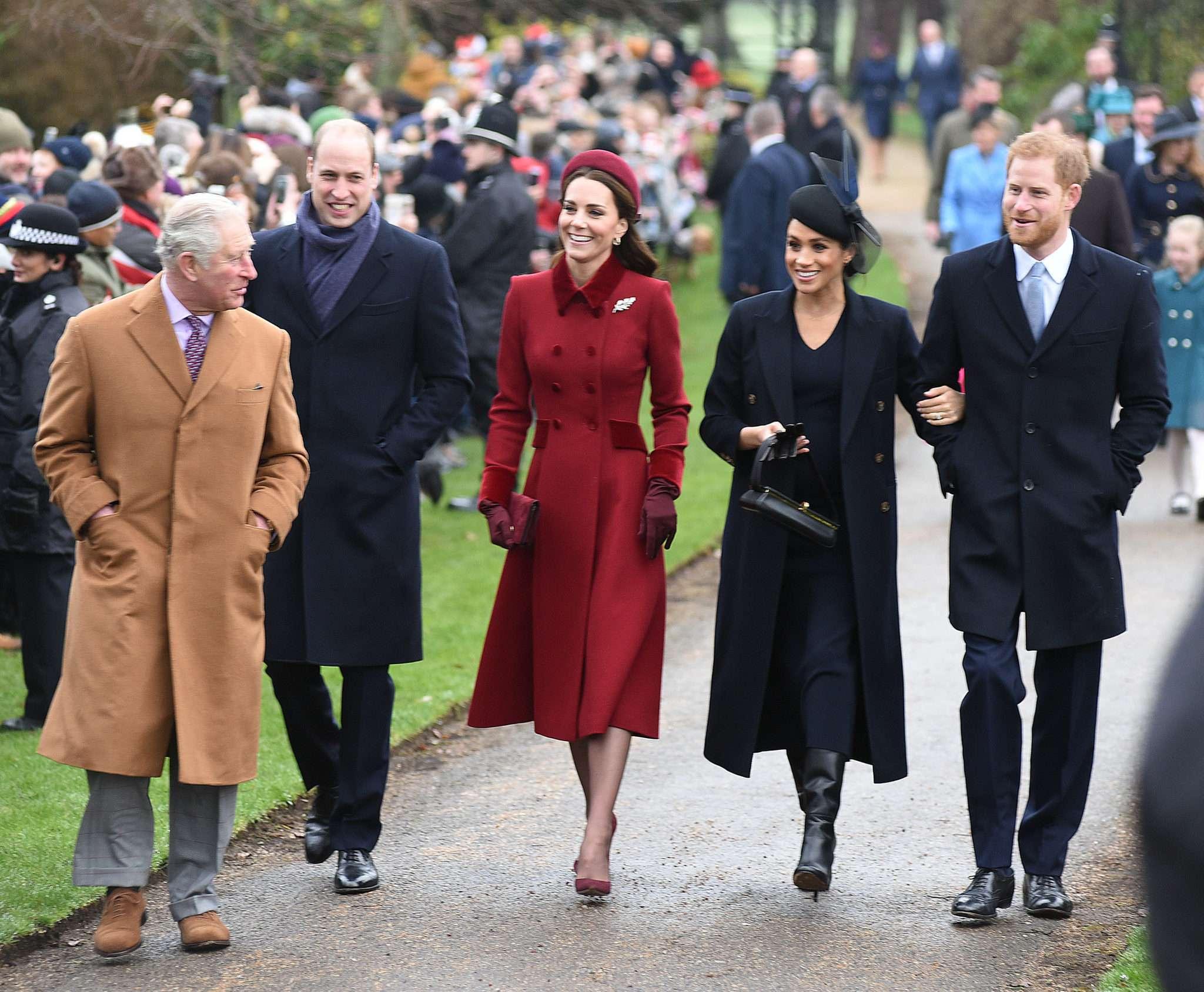 Rodzina królewska na mszy świątecznej 2018