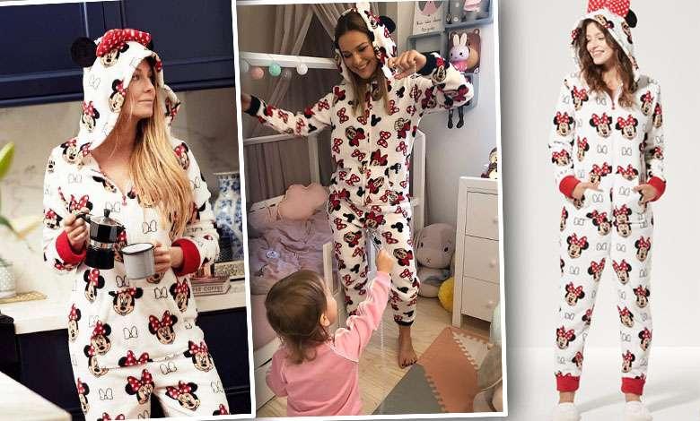 Małgorzata Rozenek piżama Myszka Miki