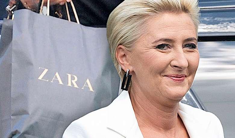 Agata Duda Zara stylizacja spódnica