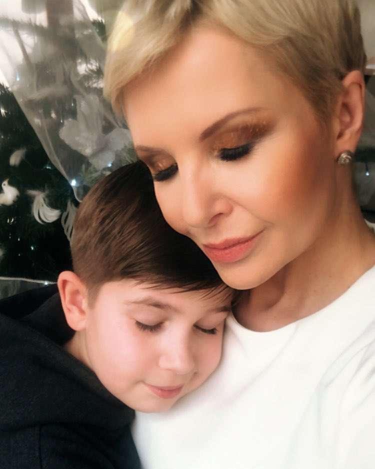 Joanna Racewicz z synem – Boże Narodzenie, święta 2018