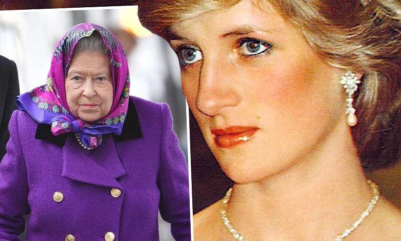 księżna Diana królowa Elżbieta II