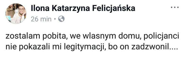 Ilona Felicjańska pobita