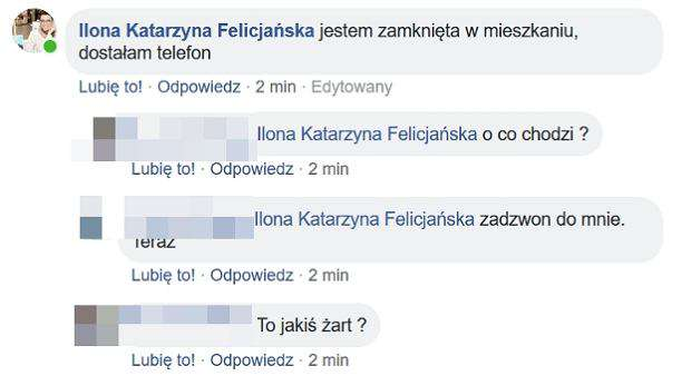 Ilona Felicjańska uwięziona we własnym domu