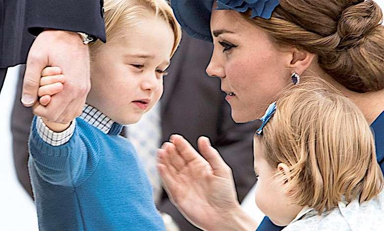 5-letni książę George stał się obiektem wielkiego skandalu. Księżna Kate nie dopilnowała syna, który uroczo złamał protokół na oczach wszystkich