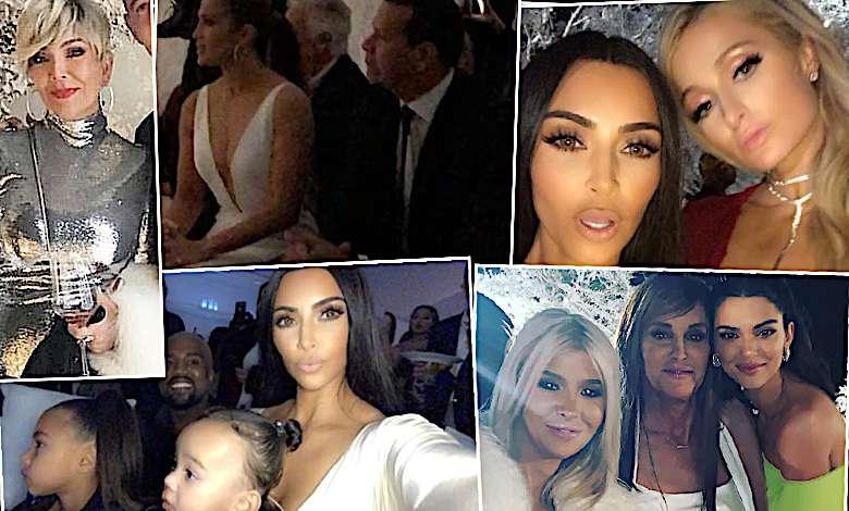 Kim Kardashian Winter Wonderland zdjęcia świąteczna impreza