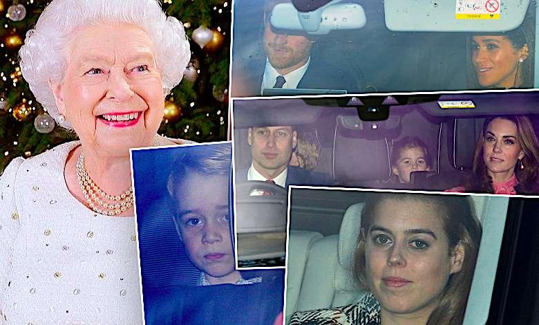 Cała rodzina królewska przyłapana na świątecznym spotkaniu u królowej Elżbiety II! Ciężarna Meghan Markle oraz księżna Kate zakopały topór wojenny!
