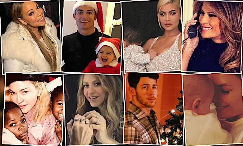 Święta zagraniczne gwiazdy 2018