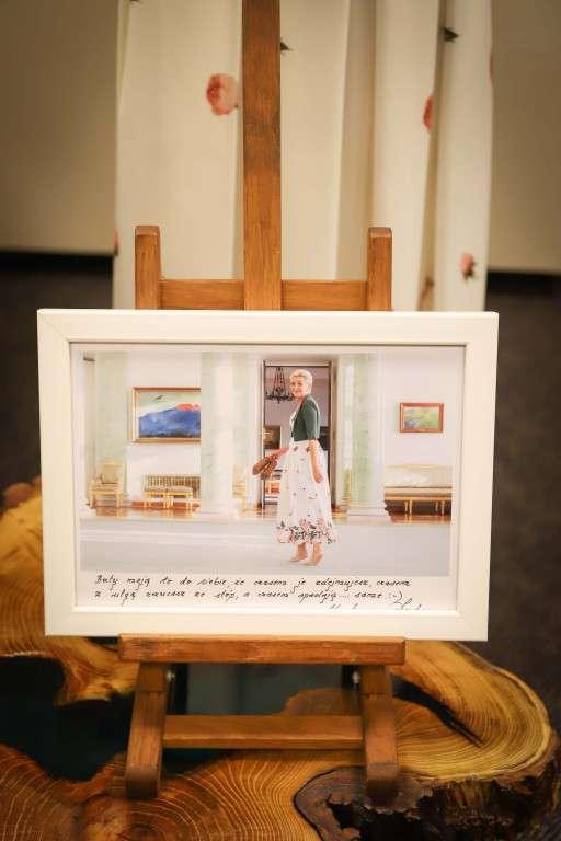 Zdjęcie Agaty Dudy na aukcji WOŚP 2019