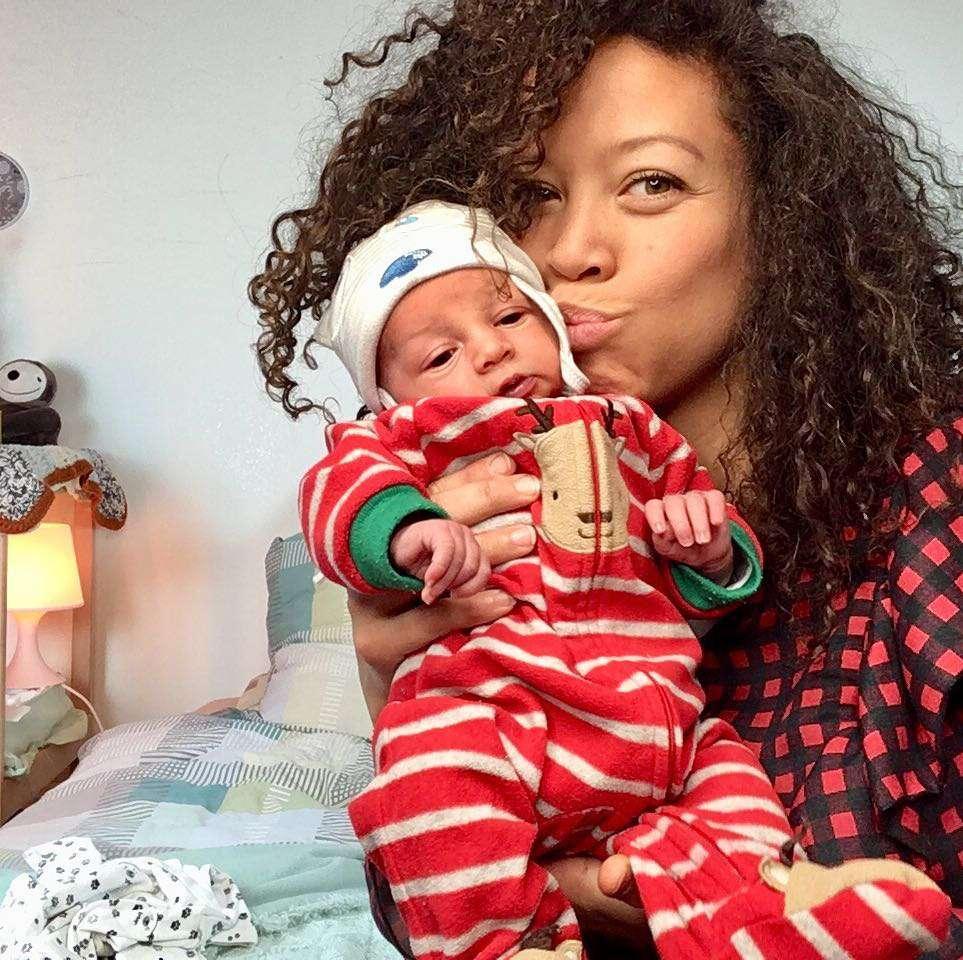 Davina Reeves z dzieckiem