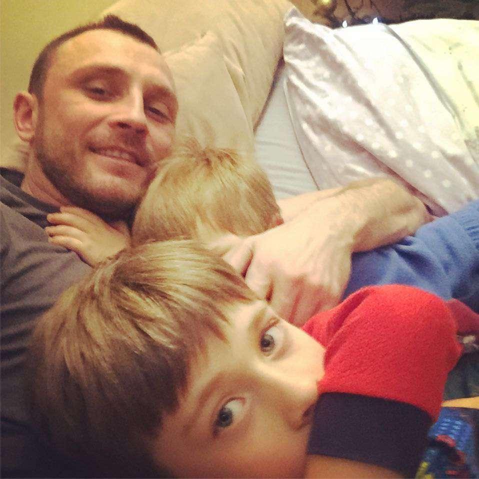 Kamill Nożyński z synami