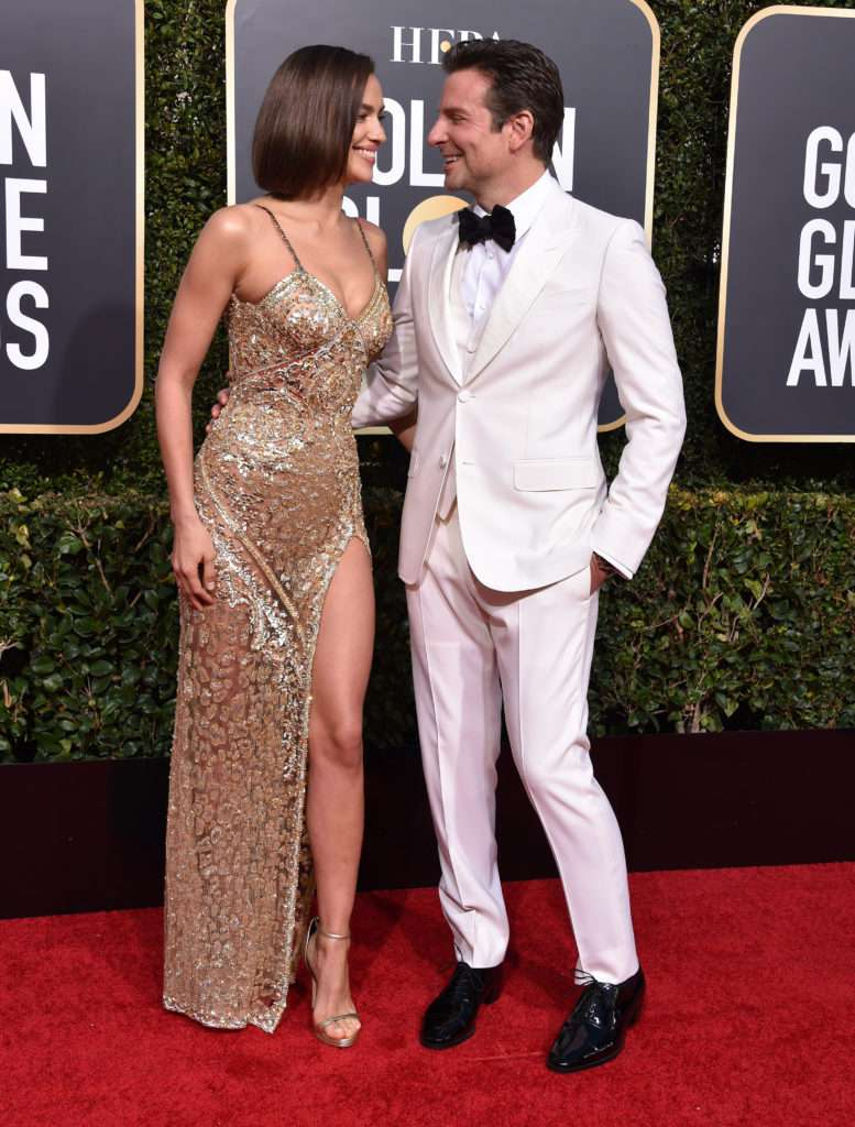 Bradley Cooper i Irina Shayk - Złote Globy 2019