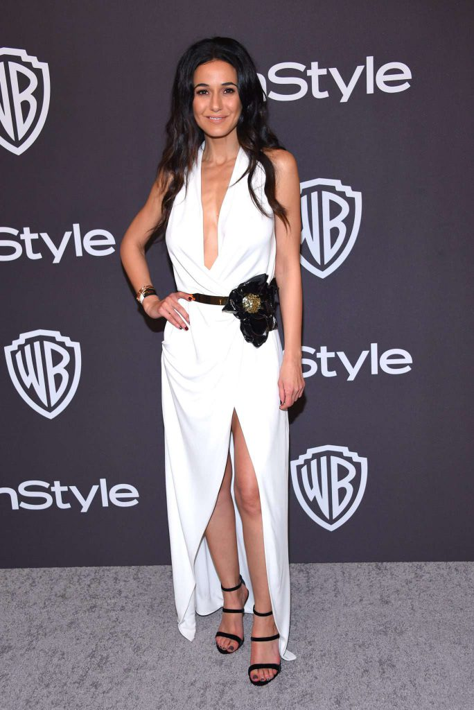 Emmanuelle Chriqui- Złote Globy 2019 after party InStyle
