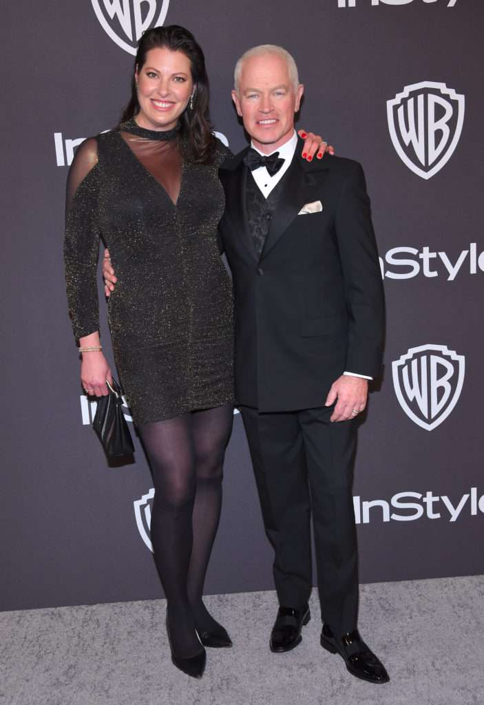 Neal McDonough i Ruve McDonough - Złote Globy 2019 after party InStyle