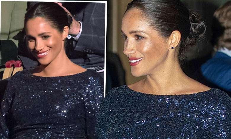 Meghan Markle z ciążowym brzuszkiem w olśniewającej wieczorowej kreacji. W Royal Albert Hall błyszczała jak na gali Oscarów!