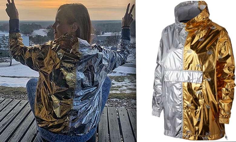 Marina Łuczenko w modnej kurtce