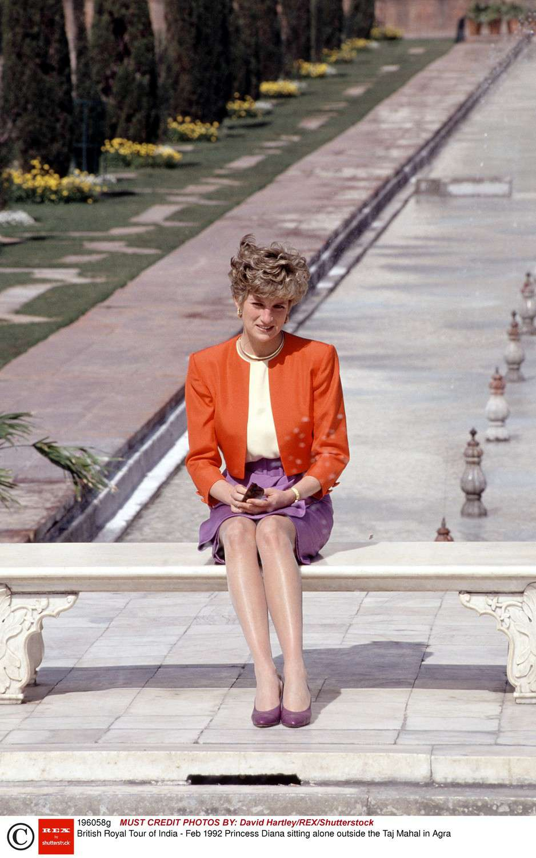 Księżna Diana pod Tadż Mahalem w 1992 roku