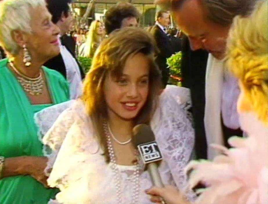 Angelina Jolie na Oscarach w 1986 roku