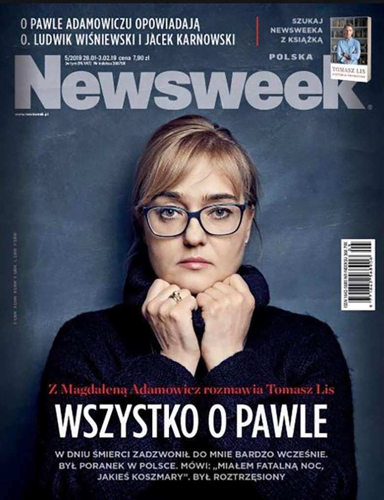 Magdalena Adamowicz na okładce Newsweeka