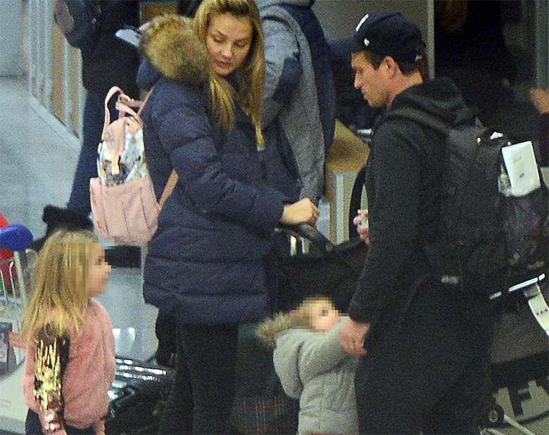 Małgorzata Socha z dziećmi, mężem i mamą wracają z Sylwestra w Arłamowie