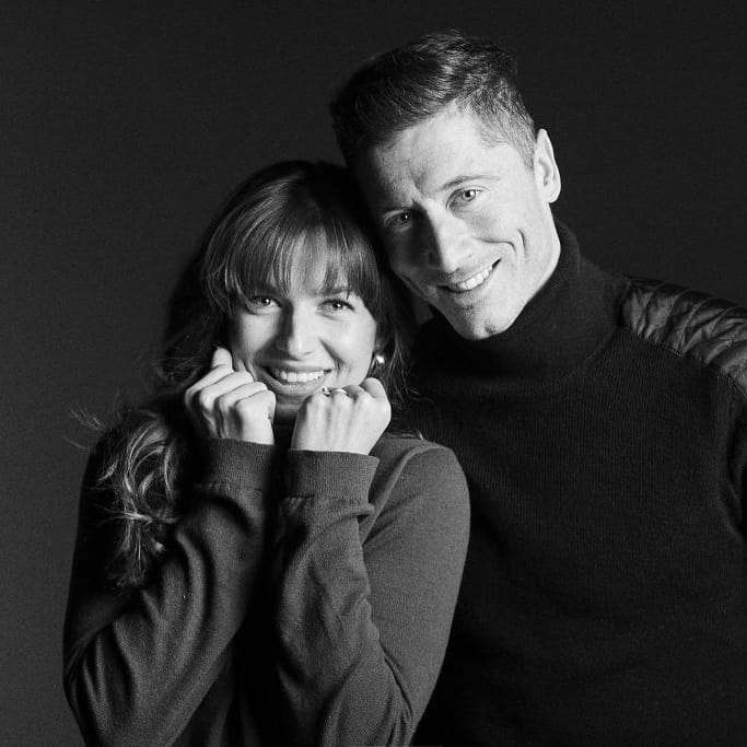 Anna Lewandowska i Robert Lewandowski - Walentynki 2019