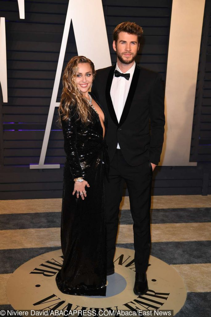 Miley Cyrus, Liam Hemsworth - after party Vanity Fair, Oscary 2019