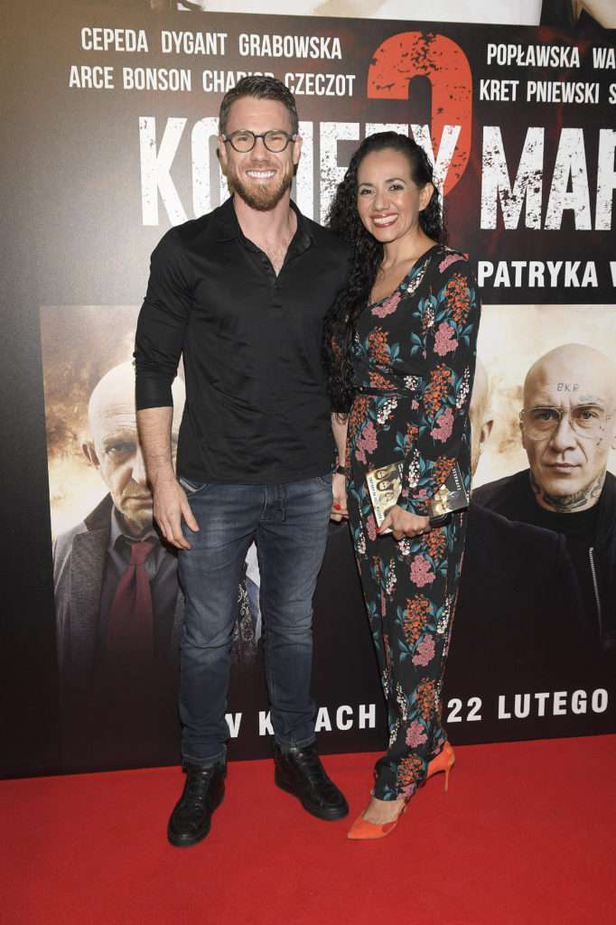 Mateusz Grzesiak i Iliana Ramirez – Kobiety Mafii 2, premiera (fot. WBF/mat.pras.)