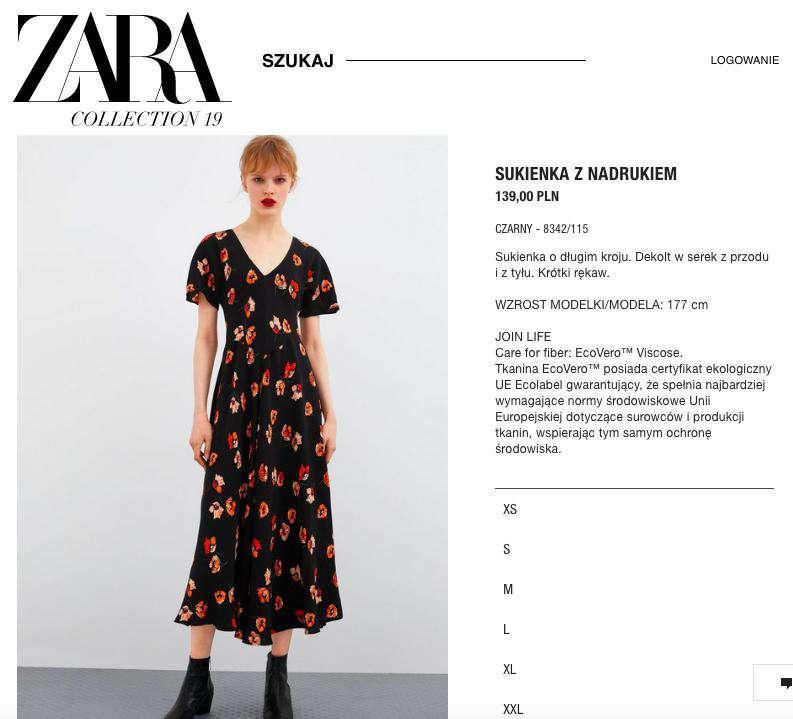 Zara – sukienka w maki