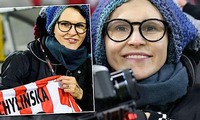Agnieszka Chylińska na meczu