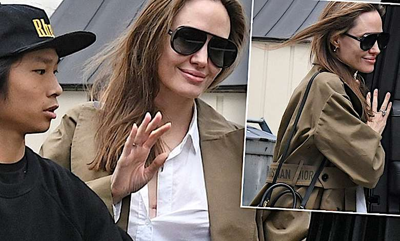 Angelina Jolie i Pax Jolie-Pitt na zakupach