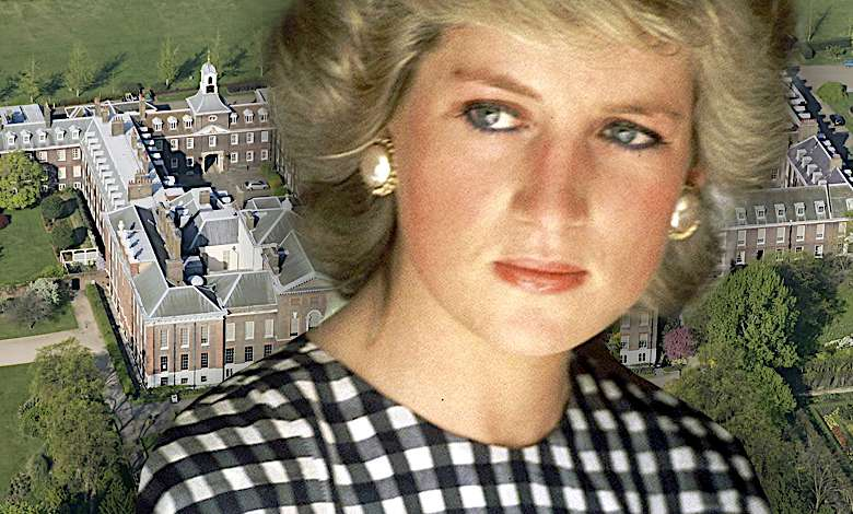 Księżna Diana, pałac Kensington
