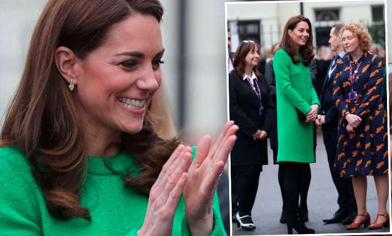 Księżna Kate ułożenie sukienki