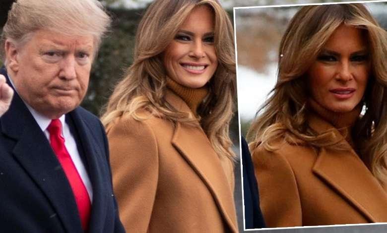 Melania Trump miodowa stylizacja