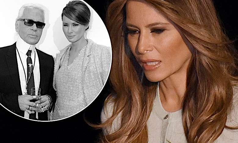 Melania Trump opłakuje Karla Lagerfelda