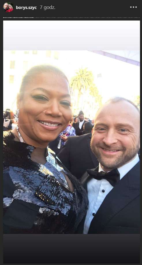 Borys Szyc i Queen Latifah - Oscary 2019