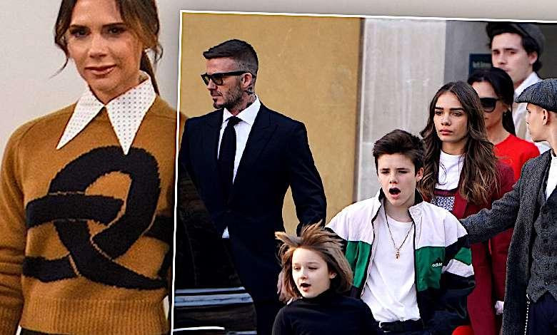 Świetne zdjęcia paparazzi! Dzieci Beckhamów dopingują Victorię w roli modelki! Mała Harper w nowej fryzurze skradła całe show!