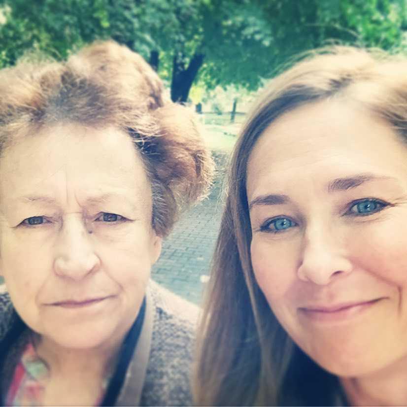 Dorota Naruszewicz z mamą