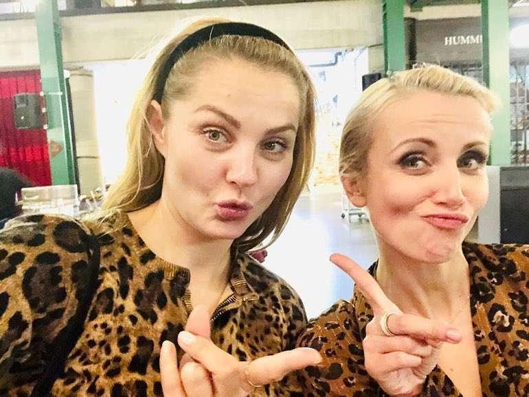 Kasia Zielińska i Małgorzata Socha w takich samych zwierzęcych stylizacjach