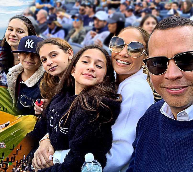 Jennifer Lopez i Alex Rodriguez z dziećmi