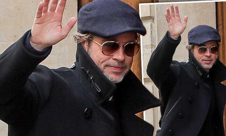 Brad Pitt paryż