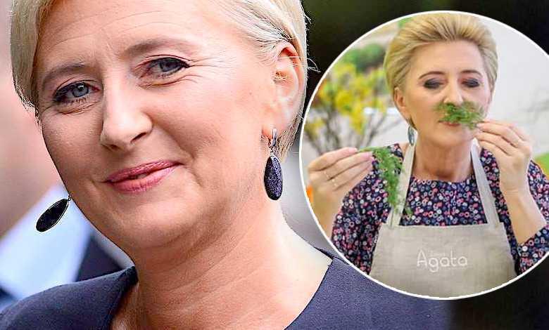 """Klasa! Agata Duda nawet w kuchni wygląda jak ikona stylu! Pierwsza Dama """"przy garach"""" szaleje jak Martha Stewart!"""
