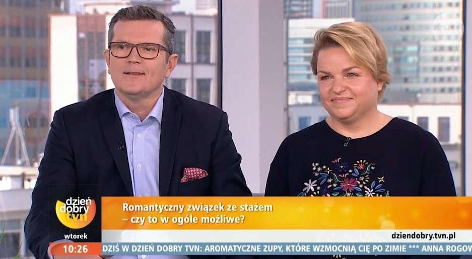 Katarzyna Bosacka pierwszy raz pokazała się z mężem w telewizji