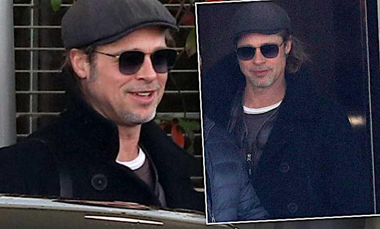 Brad Pitt w Paryżu paparazzi