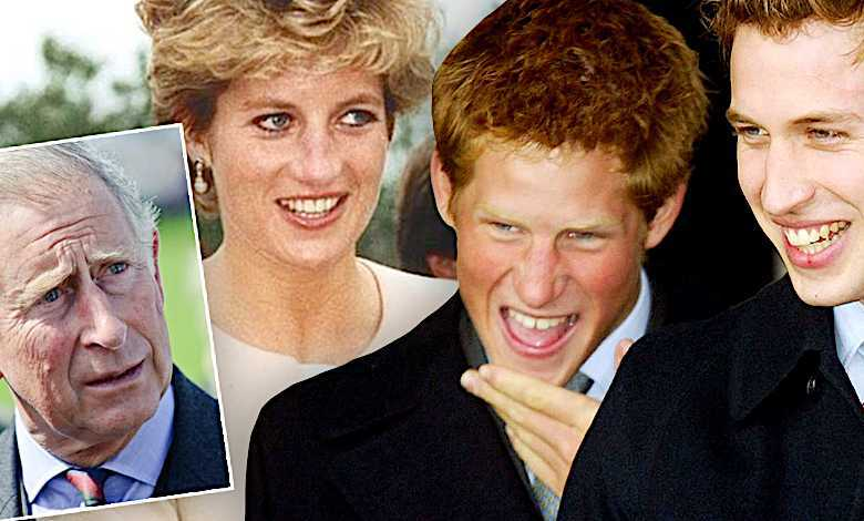 Księżna Diana, William, Harry i Karol