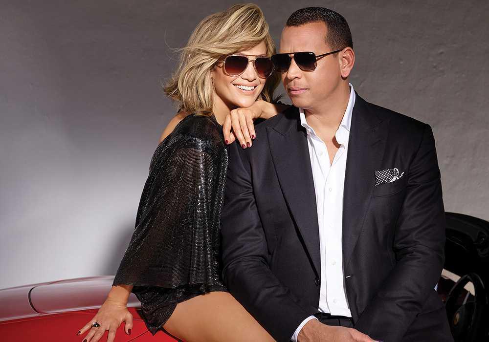 Jennifer Lopez i Alex Rodriguez w kampanii reklamowej Quay x Jennifer Lopez
