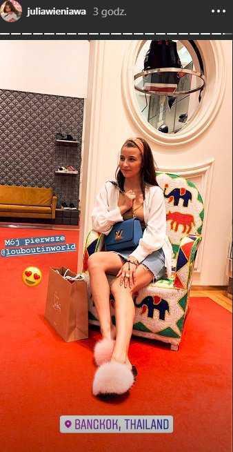 Julia Wieniawa kupiła pierwsze buty Louboutin