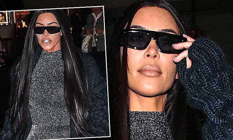 Kim Kardashian rajstopy i body