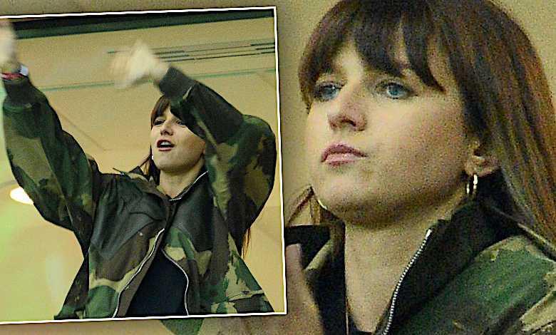 Zdenerwowana Anna Lewandowska w szałowej wojskowej kurtce szaleje na stadionie! Tak kibicuje Robertowi podczas meczu z Łotwą!