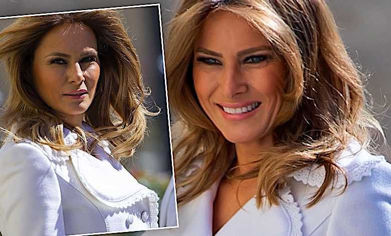 Melania Trump w bieli