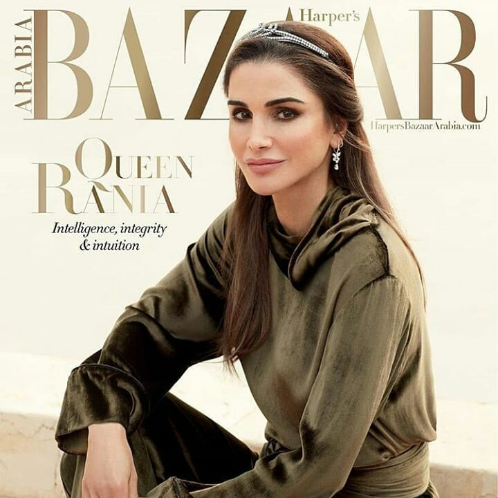 Królowa Rania w sesji fotografa polskiego pochodzenia. Harper's Bazaar Arabia
