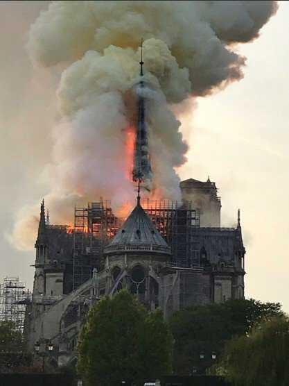 Incendie à Notre Dame, Paris, le 15 avril 2019